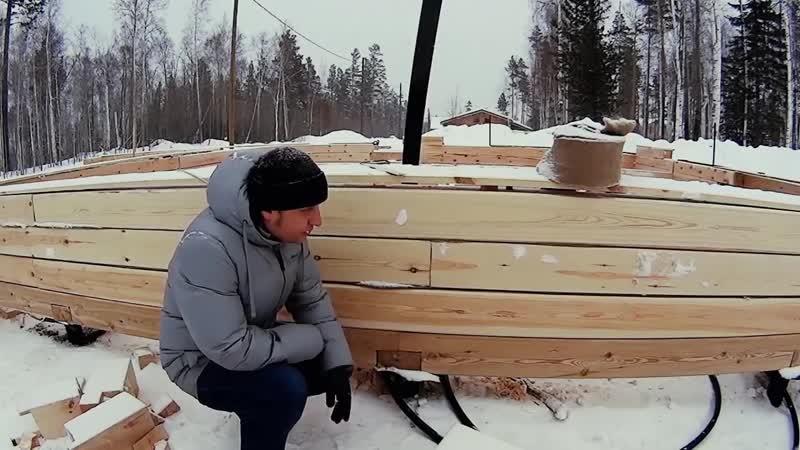 Щели в деревянном доме! Фундамент и строительство брусового дома, готовим обвязк