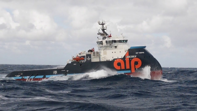X-Bow tugs ALP Sweeper Keeper in STORM