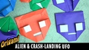 Origami Alien UFO Flicker