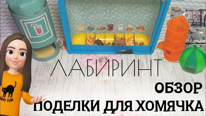 Поделки для хомячка/ЛАБИРИНТ/хомяк Ботик/Basik TV
