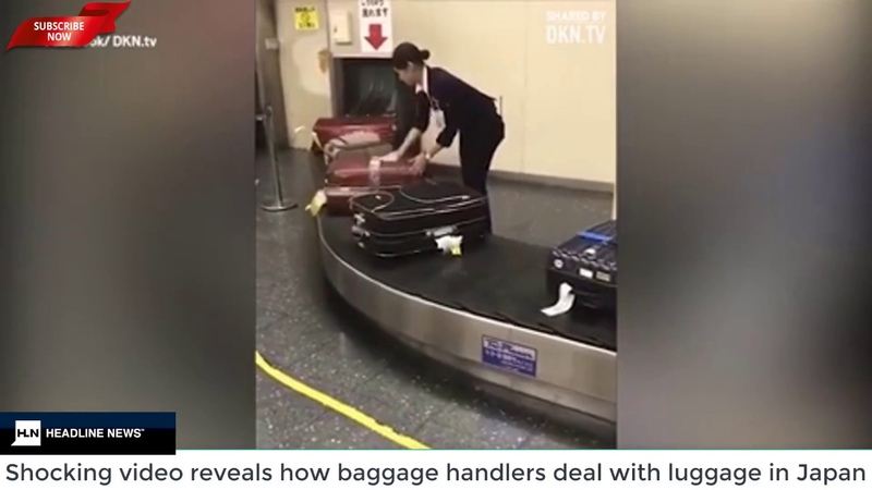 How baggage handlers deal with luggage in Japan