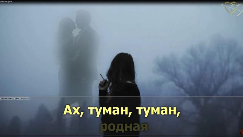Ярослав Сумишевский Ах туман караоке plus