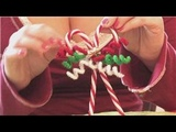 Christmas Crafts How to Make Candy Cane Christmas Tree Ornaments