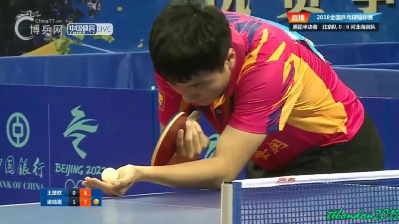 Chinese National Games 2018 Liang Jingkun vs Wang Chuqin