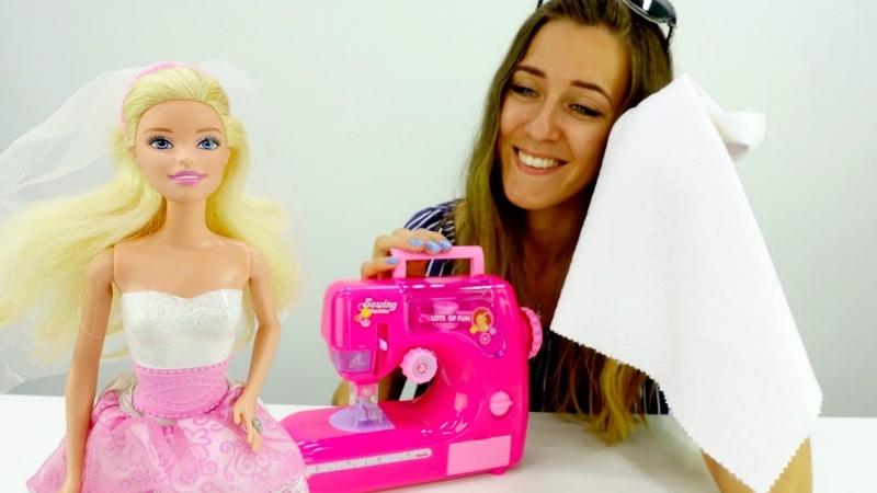 El vestido de novia para Barbie muñeca. Vídeos para niñas.