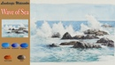 Drawing Landscape watercolor- Wave of Sea (wet-in-wet. wet-on-dry, Arches) NAMIL ART