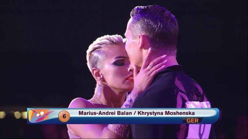 Marius-Andrei Balan - Khrystyna Moshenska GER | 2018 World LAT | Ostrava | Final | Rumba