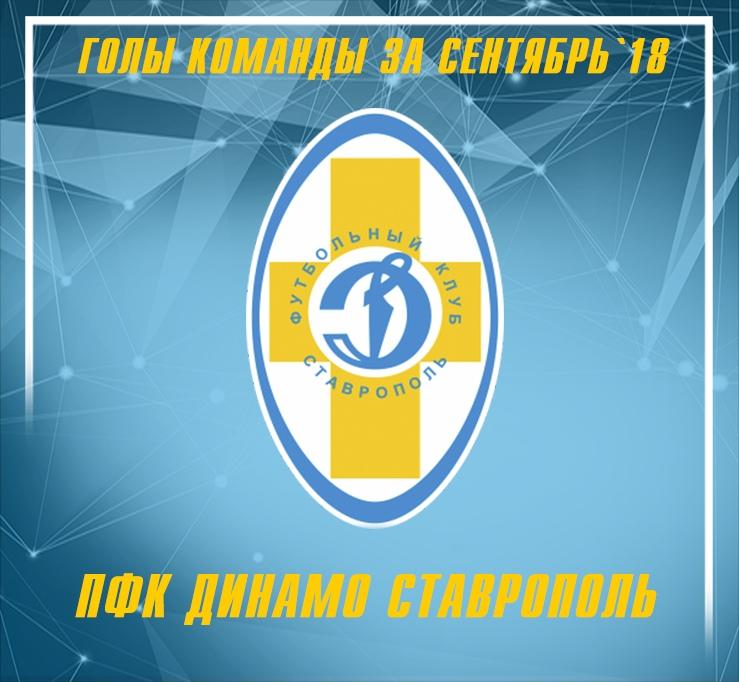 Голы команды за Сентябрь`18!