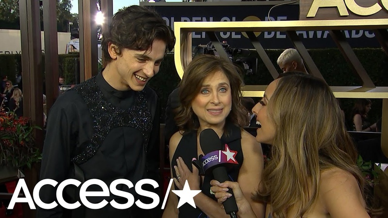 Timothée Chalamet Gets Flustered When Asked About Lily Rose Depp At The Globes Access
