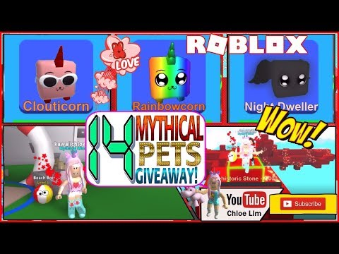 Roblox Mining Simulator! 14 Mythical Pets giveaway - see Desc! Fun TELEPORTER GLITCH! LOUD WARNING!