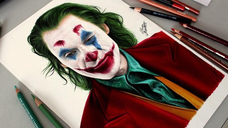Desenhando o Coringa Joker Speed Drawing