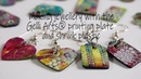Making shrink plastic jewellery with the Gelli Arts® geli printing plate