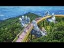 Парящий в облаках новый мост во Вьетнаме