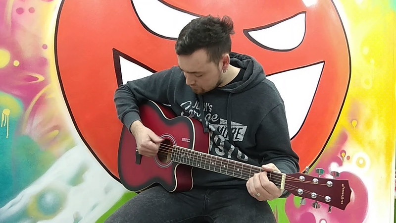 Гитара акустическая красная матовая Jonson E4011 RDS