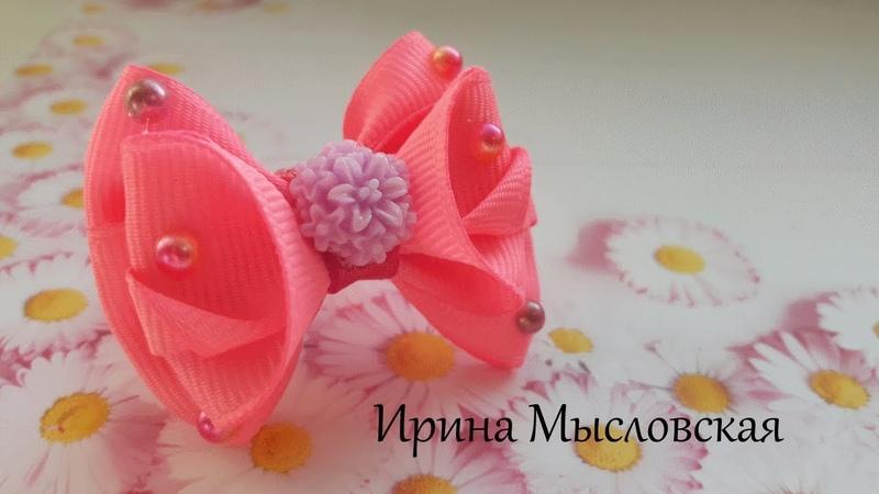 Бантик для маленьких принцесс канзаши мк/ Bow for little princesses DIY/Arco para pequeñas princesas