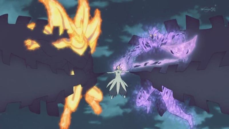 Naruto Sasuke Awaken Majestic Attire: Susanoo for the First Time and Defeat Six Paths Obito