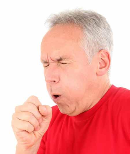 Обострение кашля является симптомом идиопатического легочного фиброза.