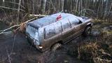 Opel Monterey through a ditch