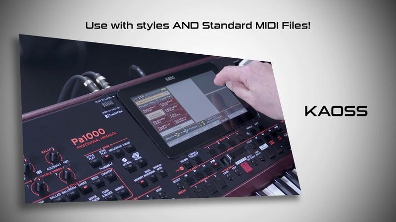 KORG Pa1000 more power - new arranger keyboard from KORG