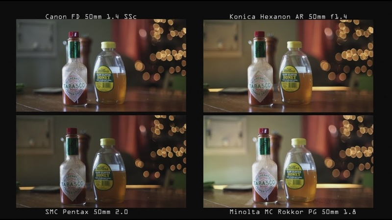 50mm Lens Comparison Zeiss, Minolta, Canon, Helios, Konica and Pentax Bokeh