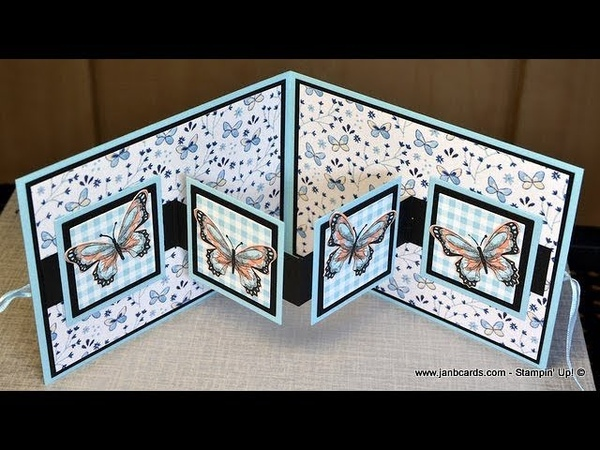No.451 - W Fancy Fold Card - JanB UK 7 Top Stampin' Up! Independent Demonstrator