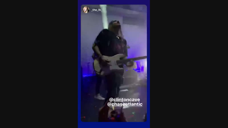 Instagram Story Clinton Cave 16/11/18
