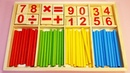 Mathematical Intelligence Stick Wooden Game for Kids to Learn Simple Maths Calculation with Symbols