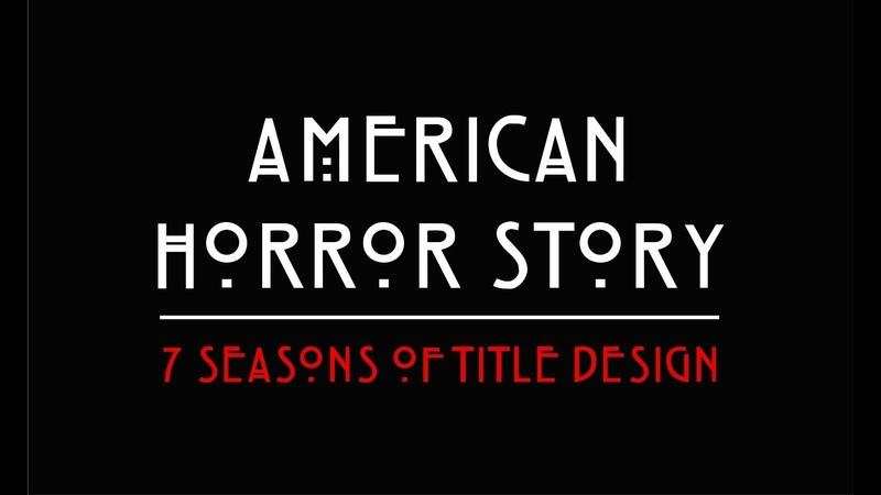 Американская история ужасов American Horror Story Все заставки в одном видео