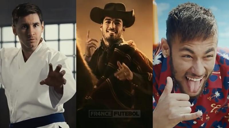 Messi Suárez Neymar (MSN) - Os Comerciais Mais Engraçados