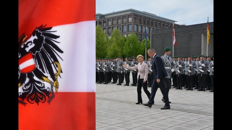 Militärische Ehren - Österreichs Verteidigungsminister Mario Kunasek