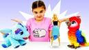 Барби выбирает питомца. Видео с игрушками. Игры для девочек