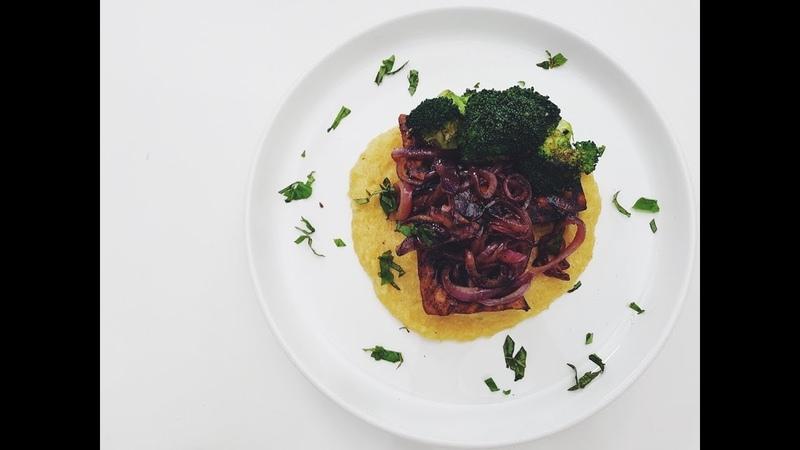 BALSAMIC GLAZED TOFU POLENTA | RECIPE?! LIVE EP 2 | hot for food