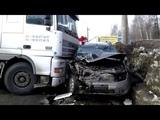 18 03 2019 Момент жесткого ДТП на Воткинском шоссе  Renault Duster и  Фура Ижевск