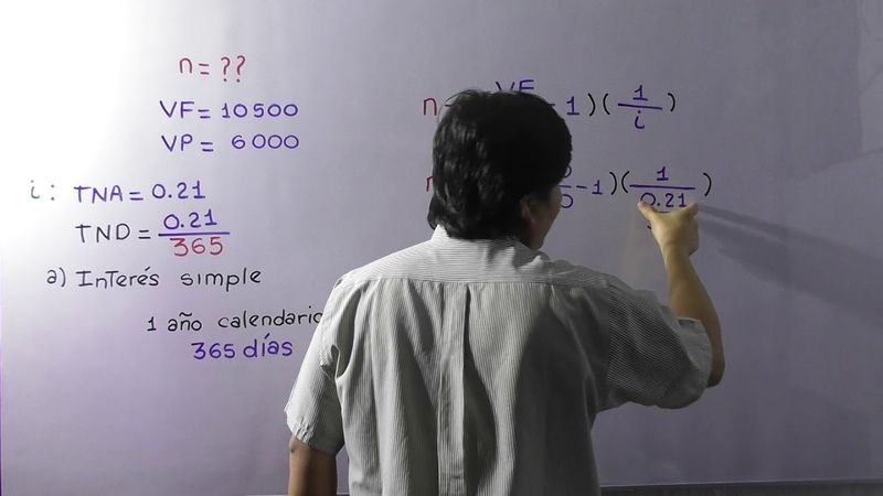 CÁLCULO DEL TIEMPO :a interés simple,a interés compuesto y a interés continuo.