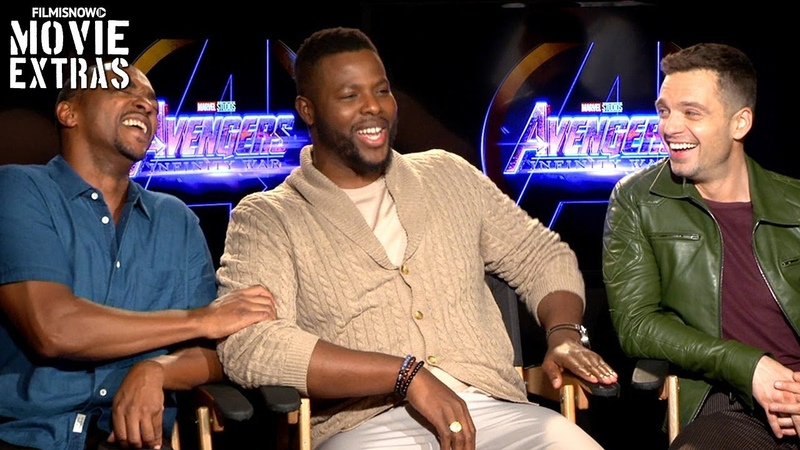 AVENGERS: INFINITY WAR | Sebastian Stan, Anthony Mackie Winston Duke talk about the movie