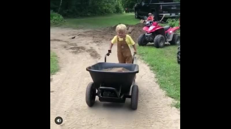 That's a load of sand and a 3 year old. I've been putting these electric wheelbarrows through the ringer and like them more ever