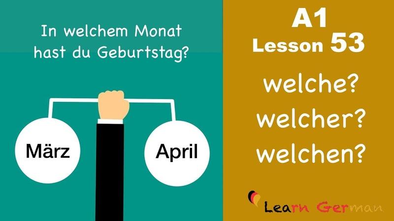 Learn German | Fragepronomen welch- | Interrogative pronoun | A1 - Lesson 53