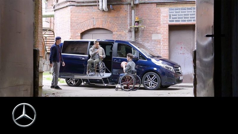 Mercedes-Benz V-Class with Ex-Factory Driving Aids for people with disabilities