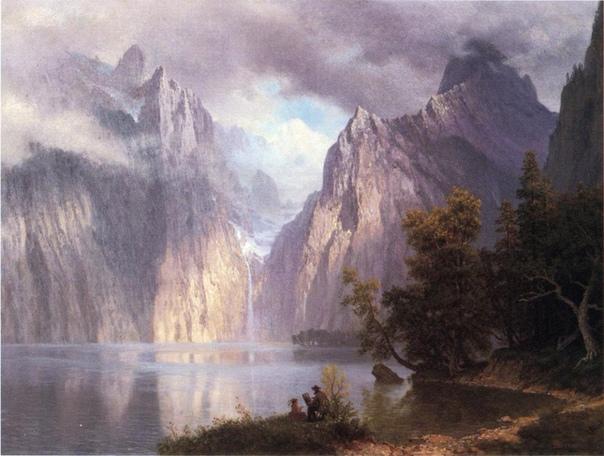 Горы и водопады Альберта Бирштадта Американский художник Альберт Бирштадт родился в 1830 г., в Германии,в г.Золингене. Когда мальчику было всего два года, семья переехала в Нью-Бредфорд в штате