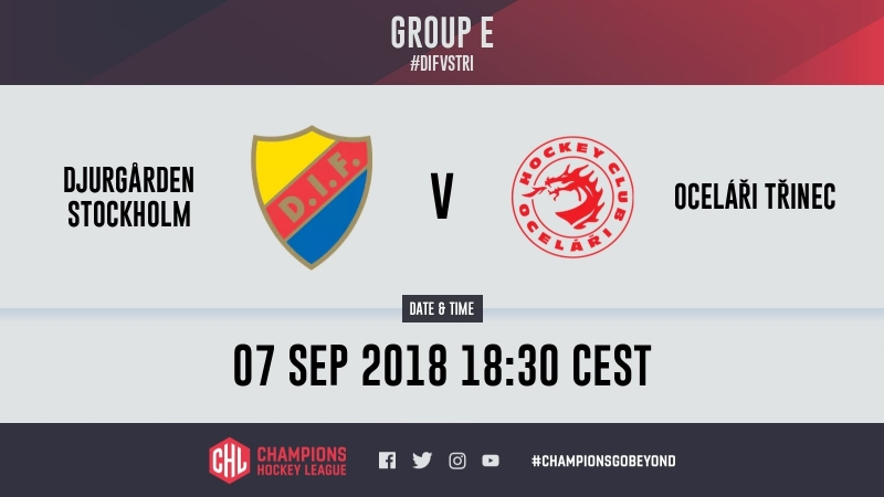 Highlights Djurgården Stockholm vs. Oceláři Třinec