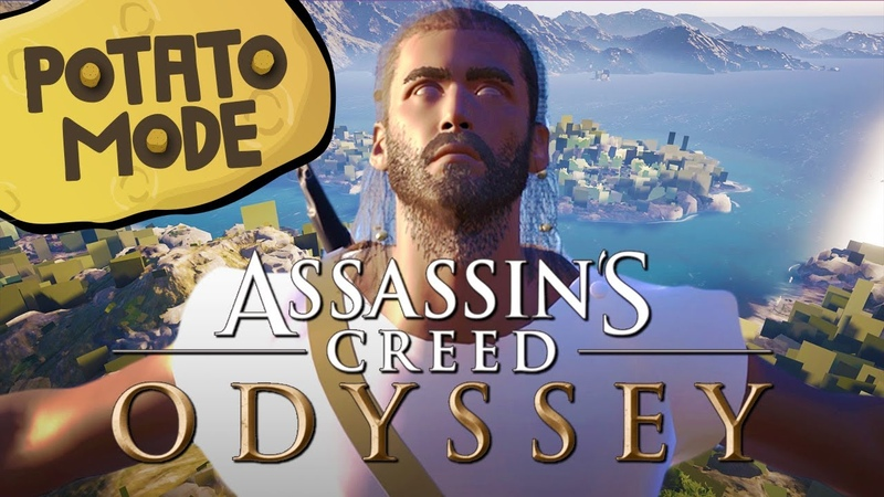 Assassins Creed Odysseys Graphics Get Smashed And Mashed | Potato Mode