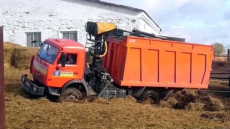 КамАЗ КрАЗ и др наматывают бедорожье на колеса Подборка