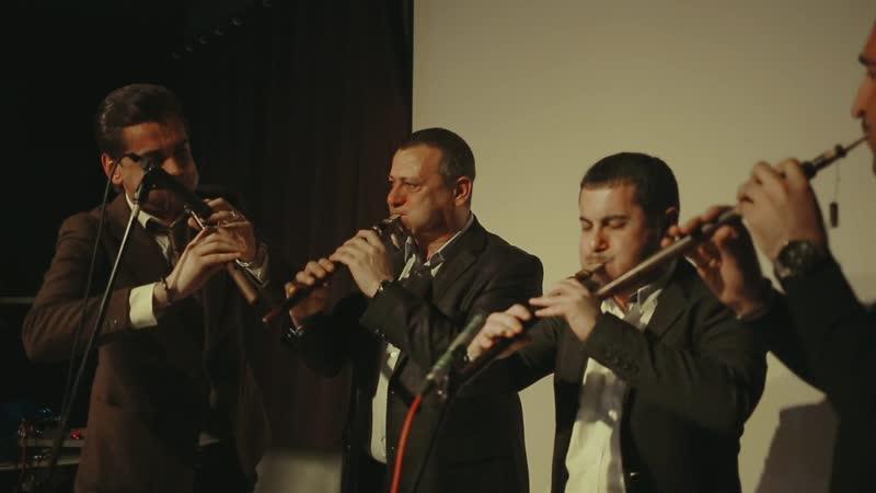 Квартет дудукистов: Арутюн Хачатрян, Гегам Оганян, Арсен Нерсесян и Артак Матевосян