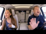 Ariana Grande Mimics Celine Dion, Gets James Corden Piggyback on 'Carpool Karaoke'