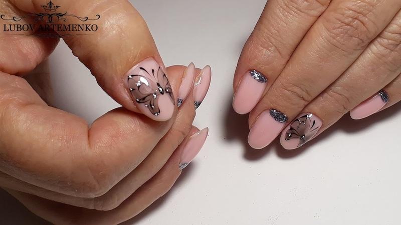Нежный дизайн ногтей/Идеальные БЛИКИ/Работа на клиенте