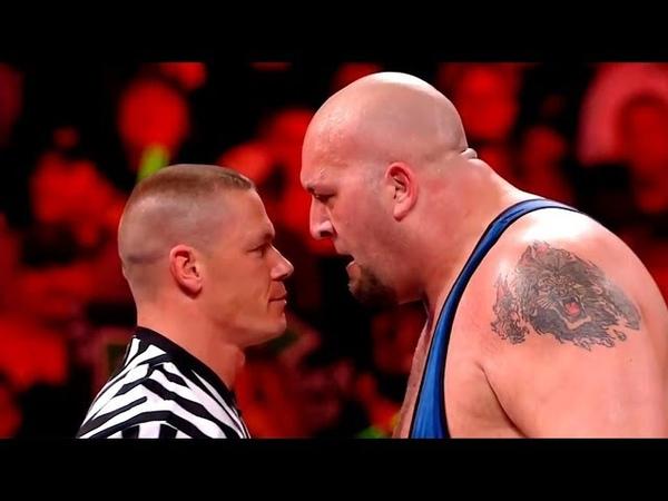 WWE Triple H vs Big Show - Special Guest Referee John Cena - NO DQ Lumberjack Match HD