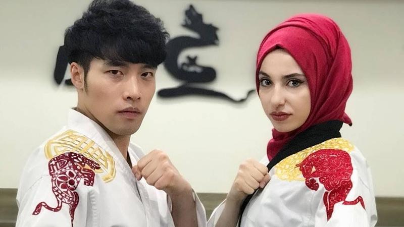 Pesona Kubra Dagli hijaber cantik juara taekwondo dunia