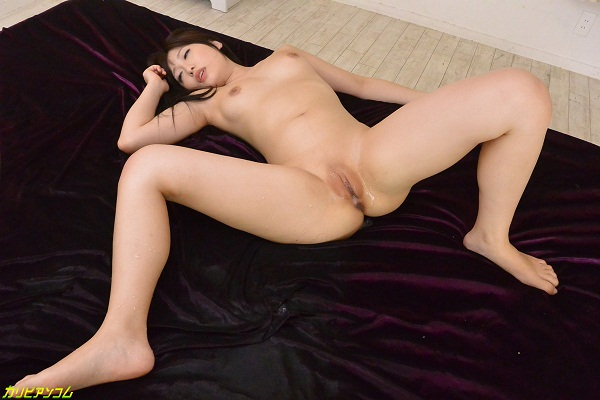 Sexy brunette with charming body is pleasantly fucking on the bed