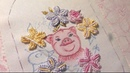 МК по вышивке Хрюндель в цветах ч 5 вышиваем цветы в бразильской технике