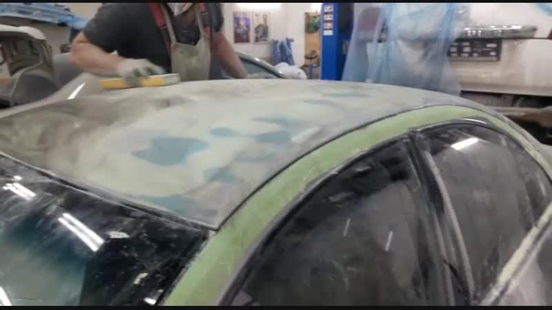 Nissan Almera процесс подготовки крыши